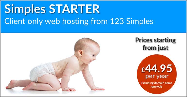 123 Simples Starter Web Hosting