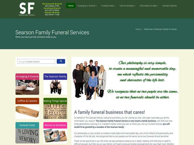 Funeral Directors Homepage Example