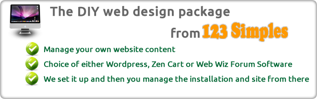 Web Design, Graphics and Logo Creation, Banners, Hosting - The complete package with 123 Simples